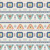 Ethnic seamless pattern. Aztec geometric texture in vector Royalty Free Stock Images