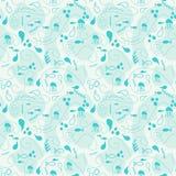 Ethnic seamless pattern. Blue ocean Stock Photos