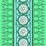 Ethnic seamless pattern. Blue and white colors. Royalty Free Stock Photography