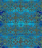 Ethnic seamless pattern. Boho blue ornament. Repeating background. Tribal, aboriginal art print. Fabric, cloth design, wallpaper, wrapping Watercolor and Hand Stock Images