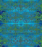 Ethnic seamless pattern. Boho blue ornament. Repeating background. Tribal, aboriginal art print. Fabric, cloth design, wallpaper, wrapping Watercolor and Hand Royalty Free Stock Photos