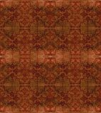 Ethnic seamless pattern. Boho brown ornament. Repeating background. Tribal, aboriginal art print. Fabric, cloth design, wallpaper, wrapping Watercolor and Hand Royalty Free Stock Photo