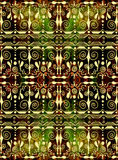 Ethnic seamless pattern. Boho green and brown ornament. Repeating background. Tribal, aboriginal art print. Fabric, cloth design, wallpaper, wrapping Royalty Free Stock Photo