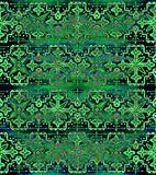 Ethnic seamless pattern. Boho green ornament. Repeating background. Tribal, aboriginal art print. Fabric, cloth design, wallpaper, wrapping Watercolor and Hand Royalty Free Stock Photo