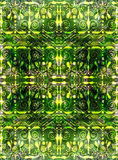 Ethnic seamless pattern. Boho green ornament. Repeating background. Tribal, aboriginal art print. Fabric, cloth design, wallpaper, wrapping Watercolor and Hand Royalty Free Stock Photos