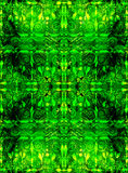 Ethnic seamless pattern. Boho green ornament. Repeating background. Tribal, aboriginal art print. Fabric, cloth design, wallpaper, wrapping Watercolor and Hand Royalty Free Stock Photography