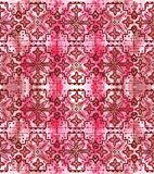 Ethnic seamless pattern. Boho pink ornament. Repeating background. Tribal, aboriginal art print. Fabric, cloth design, wallpaper, wrapping Watercolor and Hand Stock Image