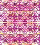 Ethnic seamless pattern. Boho pink ornament. Repeating background. Tribal, aboriginal art print. Fabric, cloth design, wallpaper, wrapping Watercolor and Hand Royalty Free Stock Image
