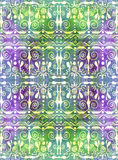 Ethnic seamless pattern. Boho rainbow ornament. Repeating background. Tribal, aboriginal art print. Fabric, cloth design, wallpaper, wrapping Watercolor and Stock Photo