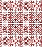 Ethnic seamless pattern. Boho sanguine ornament. Repeating background. Tribal, aboriginal art print. Fabric, cloth design, wallpaper, wrapping Watercolor and Stock Image