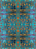 Ethnic seamless pattern. Boho turquoise and gold ornament. Repeating background. Tribal, aboriginal art print. Fabric, cloth design, wallpaper, wrapping Stock Image