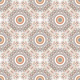Ethnic seamless pattern with circle ornament. Fabric or textile texture. Vector repeating design? Stock Image
