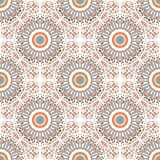 Ethnic seamless pattern with circle ornament Royalty Free Stock Image