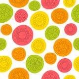 Ethnic seamless pattern with colorful floral ornament Stock Image