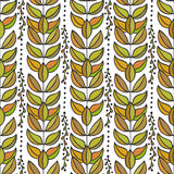 Ethnic seamless pattern with colorful stylish. Leaves. Endless autumn texture for fabric, textile,backgrounds, wrapping, package design Stock Photos