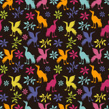 Ethnic seamless pattern with cranes Royalty Free Stock Photos