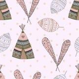 Ethnic seamless pattern design. illustration Royalty Free Stock Photography