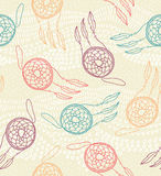 Ethnic seamless pattern with dreamcatcher Royalty Free Stock Image