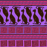 Ethnic seamless pattern with elegance cats. African ornament seamless pattern with elegance cats Royalty Free Stock Photo