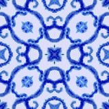 Ethnic seamless pattern. Ethnic boho ornament. Abstract batik tie dyed fabric, Shibori dyeing. Repeating background. Watercolor royalty free illustration