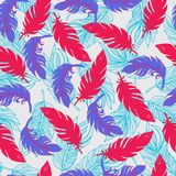Ethnic seamless pattern with Feathers Boho style Royalty Free Stock Image
