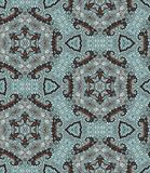 Ethnic seamless pattern with flowers and paisley - 2. Arabic motives. Royalty Free Stock Photos