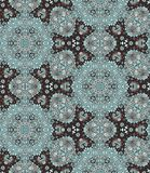 Ethnic seamless pattern with flowers and paisley - 3. Indian motives. Stock Image