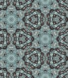 Ethnic seamless pattern with flowers and paisley - 1. Indian motives Royalty Free Stock Photos