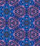 Ethnic seamless pattern with flowers and paisley in pink and blue tones. Indian, arabic, moroccan motives. Stock Image