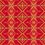 Ethnic seamless pattern with geometric ornament. Aztec, Navajo, Southwest American, Indian, Boho print. Aztec geometric seamless pattern. Native Southwest stock illustration