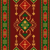 Ethnic seamless pattern with geometric ornament vector illustration