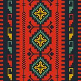Ethnic seamless pattern with geometric ornament stock illustration