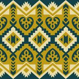 Ethnic seamless pattern with geometric ornament royalty free illustration