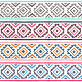 Ethnic seamless pattern. Geometric ornament. Tribal motifs. Summer striped print for your textiles. stock illustration