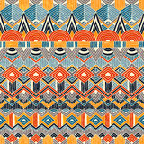 Ethnic seamless pattern. Hand drawn Abstract Stock Photo