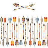 Ethnic seamless pattern with indian arrows in Royalty Free Stock Photo