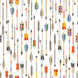 Ethnic seamless pattern with indian arrows in Royalty Free Stock Photography
