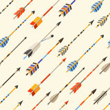 Ethnic seamless pattern with indian arrows in Stock Images