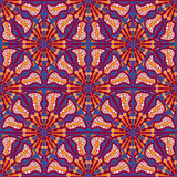 Ethnic Seamless Pattern  with Kaleidoscopic Ornament Royalty Free Stock Photo