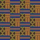 Ethnic seamless pattern. Kente cloth. Tribal print royalty free illustration