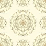 Ethnic seamless pattern. Lace pattern design. Hand drawn vector background. Royalty Free Stock Photo