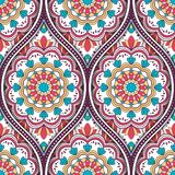 Ethnic seamless pattern. Seamless pattern with ethnic mandala ornament. Hand drawn vector illustration Royalty Free Stock Images