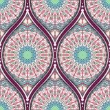 Ethnic seamless pattern. Seamless pattern with ethnic mandala ornament. Hand drawn vector illustration Stock Photography
