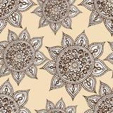 Ethnic seamless pattern with mandala and paisley. Stock Photo