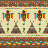 Ethnic seamless pattern in native style Stock Photos