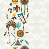 Ethnic seamless pattern in native style Stock Photography