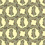 Ethnic seamless pattern with ornamental round leaves. Endless texture, template for fabric, textile, covers Stock Photos