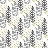 Ethnic seamless pattern with ornamental stylized trees. Endless texture, template for fabric, textile, covers Royalty Free Stock Images