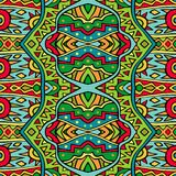 Ethnic seamless pattern in red and green colors. Royalty Free Stock Image