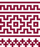 Ethnic seamless pattern in red and white colors. Royalty Free Stock Images